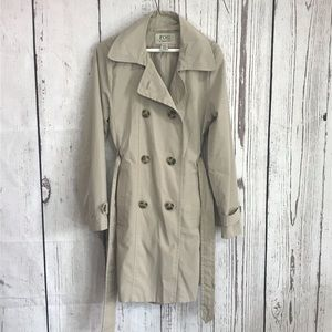 London Fog Light Double Breasted Trench Coat